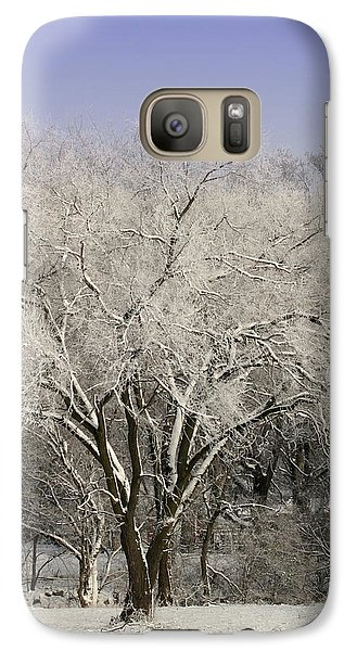 Galaxy Case featuring the photograph Winter Trees by Diane Merkle