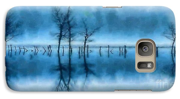 Galaxy Case featuring the painting Winter Trees by Elizabeth Coats