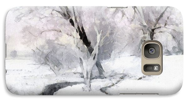 Galaxy Case featuring the digital art Winter Trees by Francesa Miller