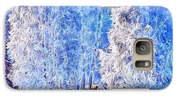 Galaxy Case featuring the digital art Winter Trees by Ron Bissett