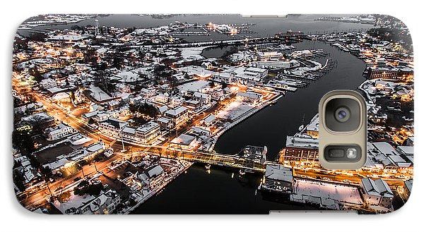 Galaxy Case featuring the photograph Winter Twilight In Mystic Connecticut by Petr Hejl