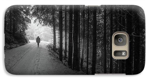Winter Walk - Austria Galaxy Case by Mountain Dreams