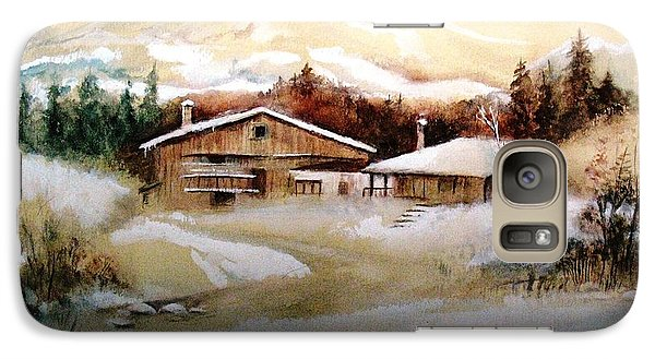 Galaxy Case featuring the painting Winter Wonderland  by Hazel Holland