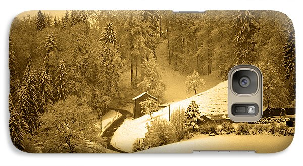 Galaxy Case featuring the photograph Winter Wonderland In Switzerland - Up The Hills by Susanne Van Hulst