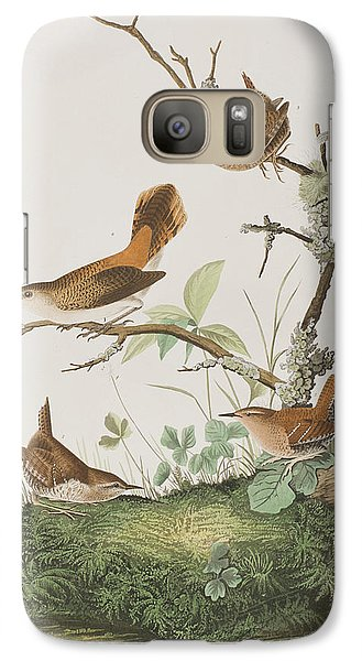 Winter Wren Or Rock Wren Galaxy S7 Case by John James Audubon
