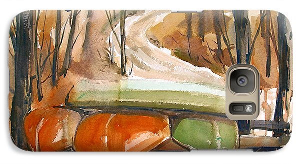 Galaxy Case featuring the painting Wintering Over by Charlie Spear