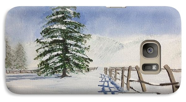 Galaxy Case featuring the painting Winter's Beauty by Cynthia Morgan