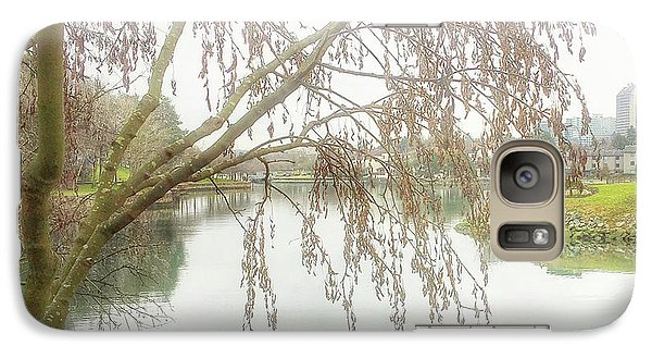 Galaxy Case featuring the photograph Winter's  End  by Connie Handscomb
