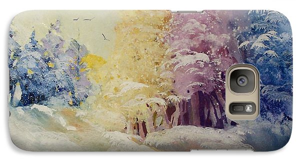 Galaxy Case featuring the painting Winter's Pride by Helen Harris
