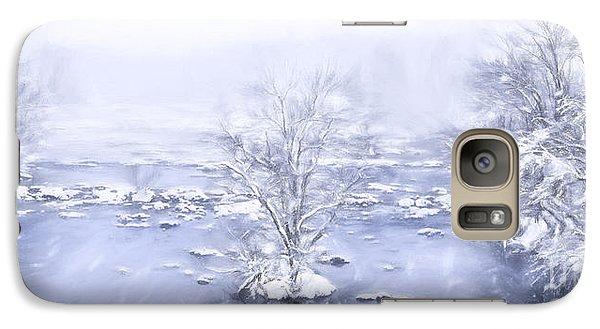 Galaxy Case featuring the painting Winters Roar II by Dan Carmichael