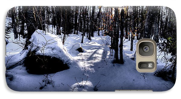 Galaxy Case featuring the photograph Winters Shadows by David Patterson