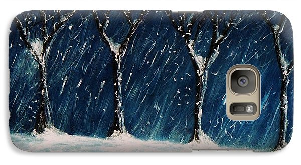 Galaxy Case featuring the painting Winter's Snow by John Scates