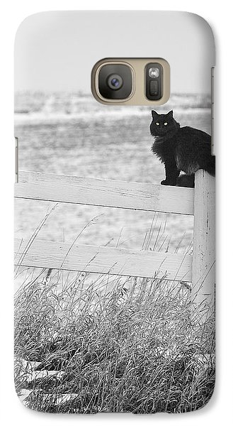 Galaxy S7 Case featuring the photograph Winter's Stalker by Rikk Flohr