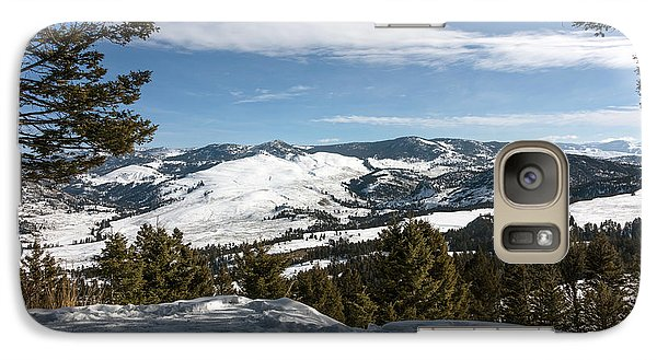 Galaxy Case featuring the photograph Wintertime View From Hellroaring Overlook In Yellowstone National Park by Carol M Highsmith
