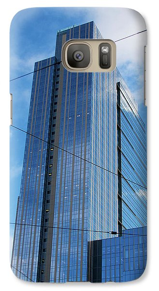 Galaxy Case featuring the photograph Wired In Seattle - Skyscraper Art Print by Jane Eleanor Nicholas