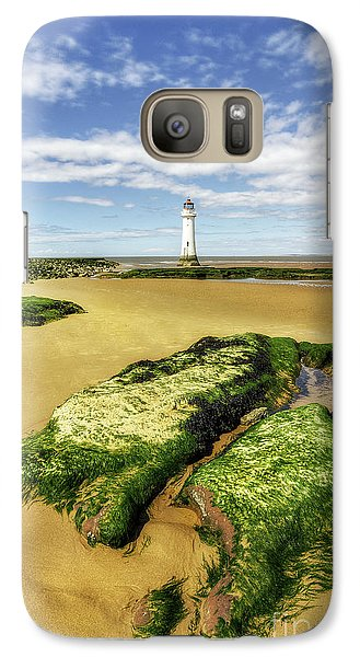Galaxy Case featuring the photograph Wirral Lighthouse by Ian Mitchell