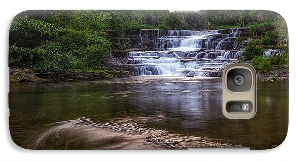Galaxy Case featuring the photograph Wiscoy Falls by Mark Papke