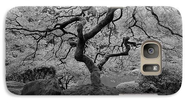 Galaxy Case featuring the photograph Wisdom Bw by Jonathan Davison