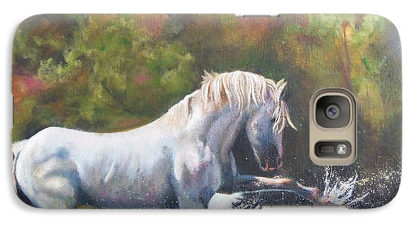 Galaxy Case featuring the painting Wisdom Of The Wild by Karen Kennedy Chatham