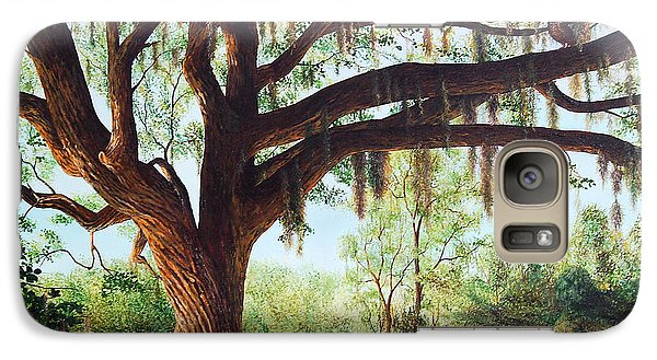 Galaxy Case featuring the painting Wise Old Oak by AnnaJo Vahle