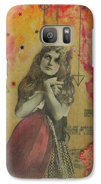 Galaxy Case featuring the mixed media Wish Upon A Star by Desiree Paquette
