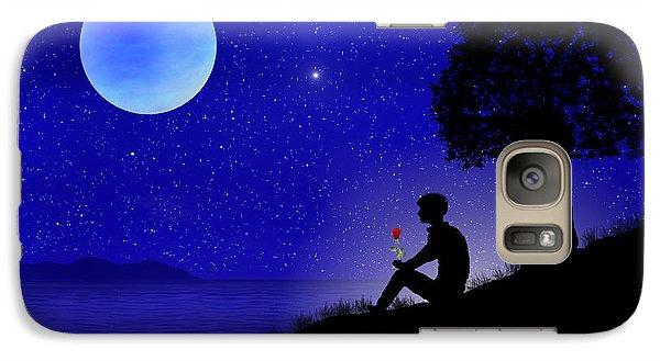 Galaxy Case featuring the digital art Wish You Were Here by Bernd Hau