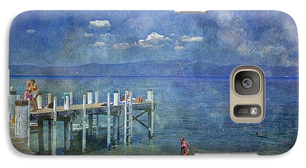 Galaxy Case featuring the photograph Wish You Were Here Chambers Landing Lake Tahoe Ca by David Zanzinger