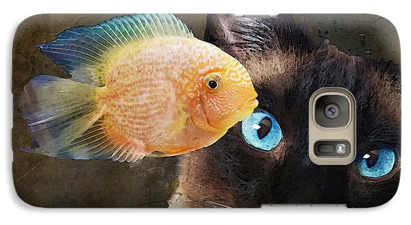 Wishful Thinking 2 - Siamese Cat Art - Sharon Cummings Galaxy S7 Case by Sharon Cummings