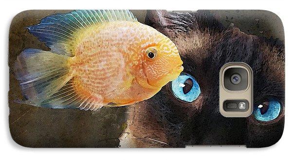 Wishful Thinking 2 - Siamese Cat Art - Sharon Cummings Galaxy Case by Sharon Cummings