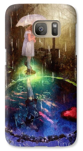 Galaxy Case featuring the painting Wishing Well by Mo T