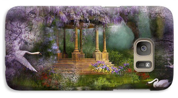 Wisteria Lake Galaxy S7 Case by Carol Cavalaris