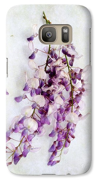 Galaxy Case featuring the photograph Wisteria Still Life by Louise Kumpf