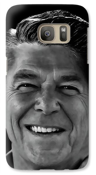 Galaxy Case featuring the mixed media With A Glint In His Eye ..... by Daniel Hagerman