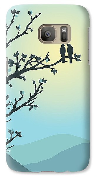 Galaxy Case featuring the digital art With You By My Side by Christina Lihani