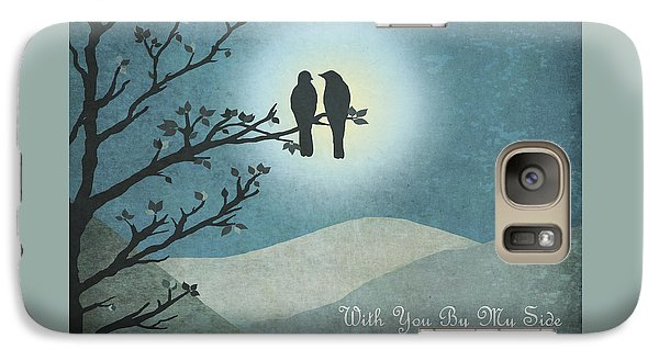 Galaxy Case featuring the digital art With You By My Side Landscape View by Christina Lihani