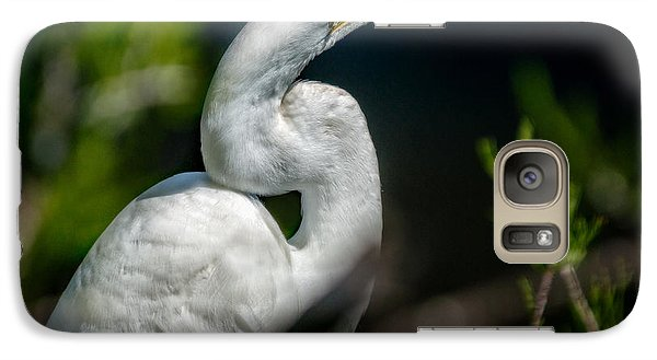 Galaxy Case featuring the photograph White Egret 2 by Christopher Holmes