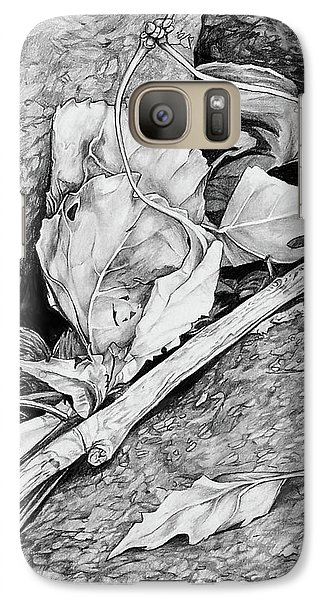 Galaxy Case featuring the drawing Withered Leaves by Aaron Spong