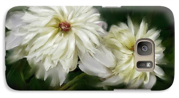 Galaxy Case featuring the painting Withering Peony by Bonnie Willis