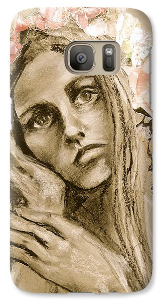 Galaxy Case featuring the drawing Within by Mary Schiros