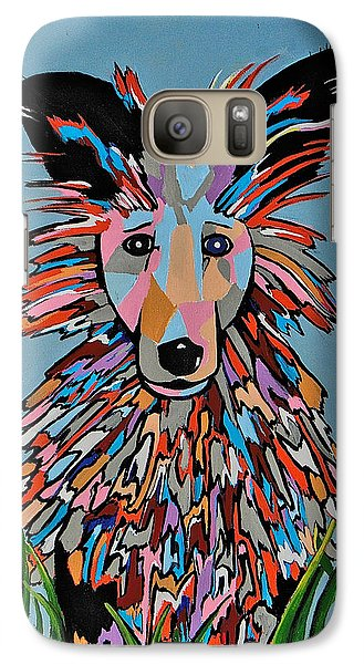 Galaxy Case featuring the painting Wiz by Kathleen Sartoris