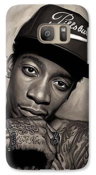 Galaxy Case featuring the painting Wiz Khalifa Artwork  by Sheraz A