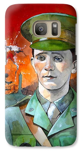 Galaxy Case featuring the painting W.j. Symons Vc by Ray Agius