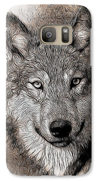 Galaxy Case featuring the digital art Wolf  by Aaron Berg