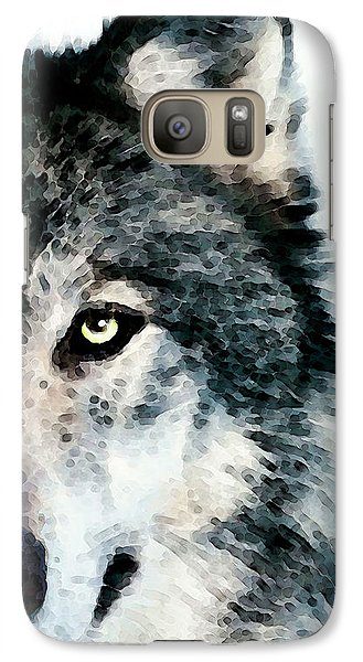 Wolf Art - Timber Galaxy S7 Case by Sharon Cummings