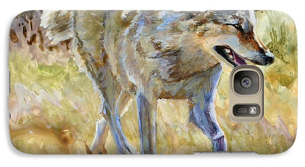 Galaxy Case featuring the painting Wolf by Bonnie Rinier