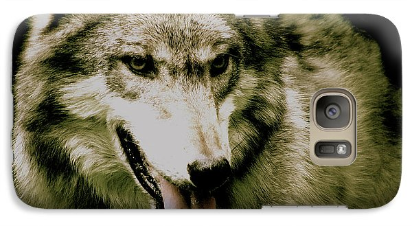 Galaxy Case featuring the mixed media Wolf Of The Night by Debra     Vatalaro