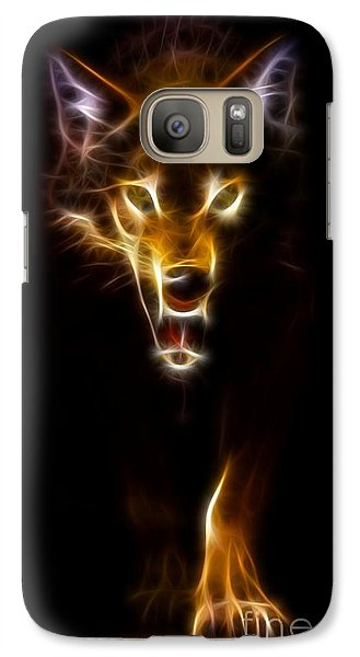 Wolf Ready To Attack Galaxy S7 Case by Pamela Johnson