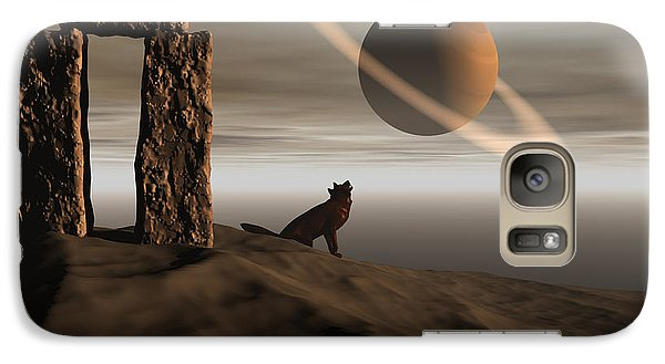 Galaxy Case featuring the digital art Wolf Song by Claude McCoy