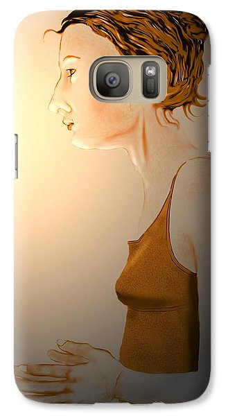 Galaxy Case featuring the digital art Woman 15 by Kerry Beverly