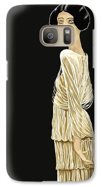Galaxy Case featuring the digital art Woman 36 by Kerry Beverly
